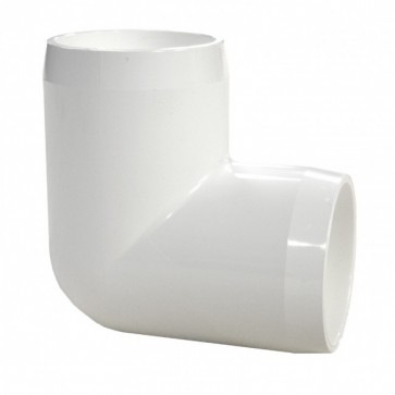 "2"" PVC 90-Degree Elbow Furniture Grade - White"