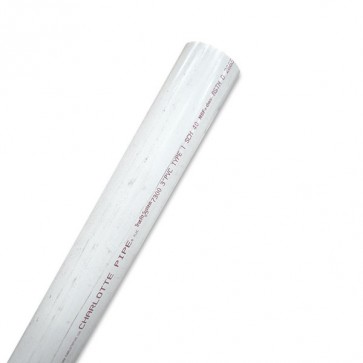 "3"" Sch 40 PVC Pipe - White"