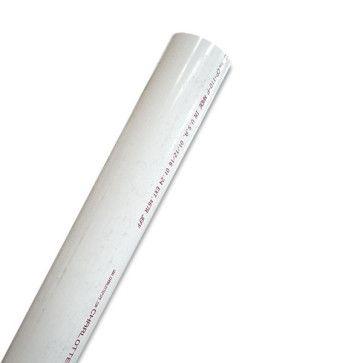 "5"" Schedule 40 PVC Pipe - White"