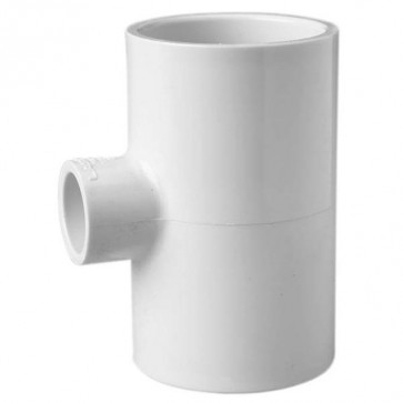 "4"" x 4"" x 3/4"" Schedule 40 PVC Reducing Tee - Socket x Socket x Socket (401-416)"