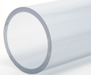 "2"" Clear Schedule 40 PVC Pipe - 5 ft."
