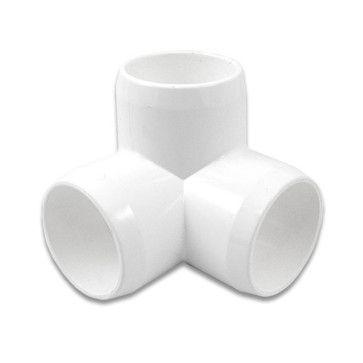 "1"" 3-Way PVC Furniture Fitting - Furniture Grade"