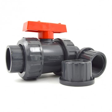 "1-1/4"" FluidPro PVC True Union Ball Valve"