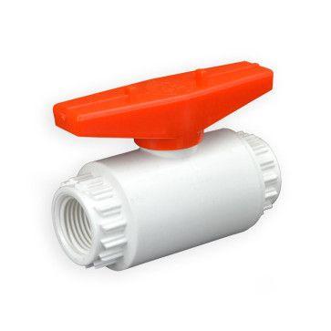 "1/2"" Flui-PRO PVC Compact Ball Valve - White / Threaded (FP-WT-005)"
