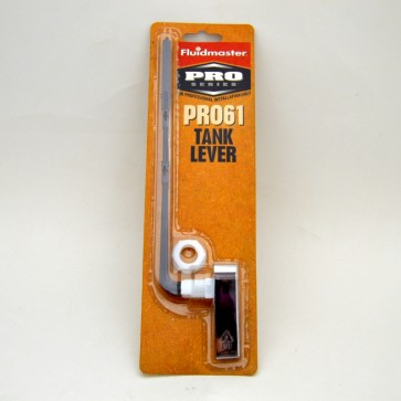 toilet tank lever with plastic arm front