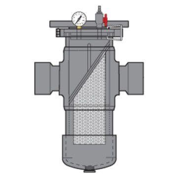 Gray PVC Simplex Basket Strainer