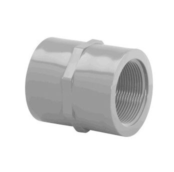 """1/4"""" Schedule 80 (FPT x FPT) CPVC Coupling 9830-002"""