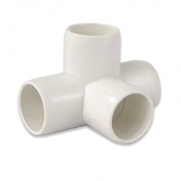 "3/4"" 4-Way PVC Fitting - Furniture Grade"