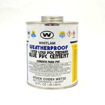 Whitlam All Weather Low VOC Blue Medium Bodied PVC Cement