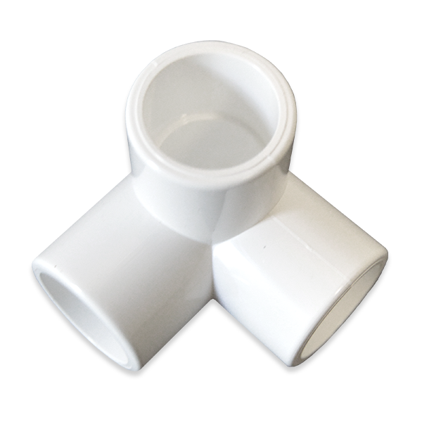 1 2 Quot 3 Way Pvc Furniture Fitting Side Elbow