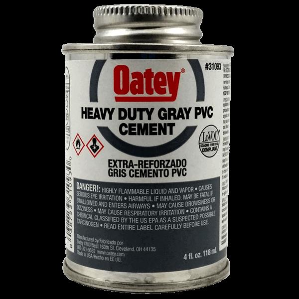 Heavy Duty Cement : Oatey heavy duty gray pvc cement ozᅠ