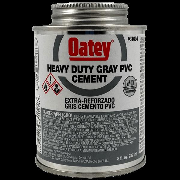 Heavy Duty Primer : Oatey heavy duty gray pvc cement oz