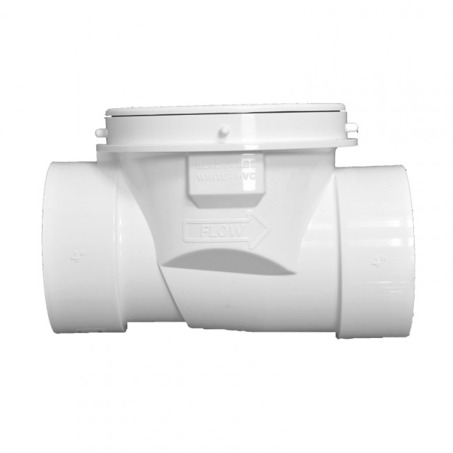 White PVC Backwater Valves