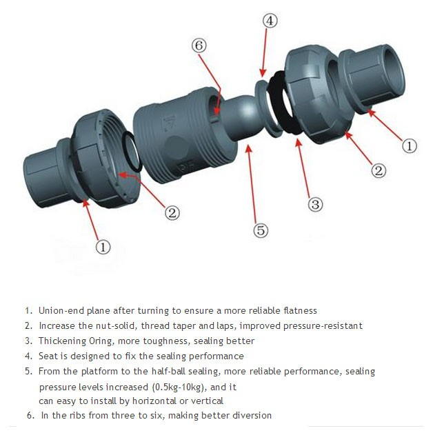 3 4 cpvc ball check valve sk ctubc s 007. Black Bedroom Furniture Sets. Home Design Ideas