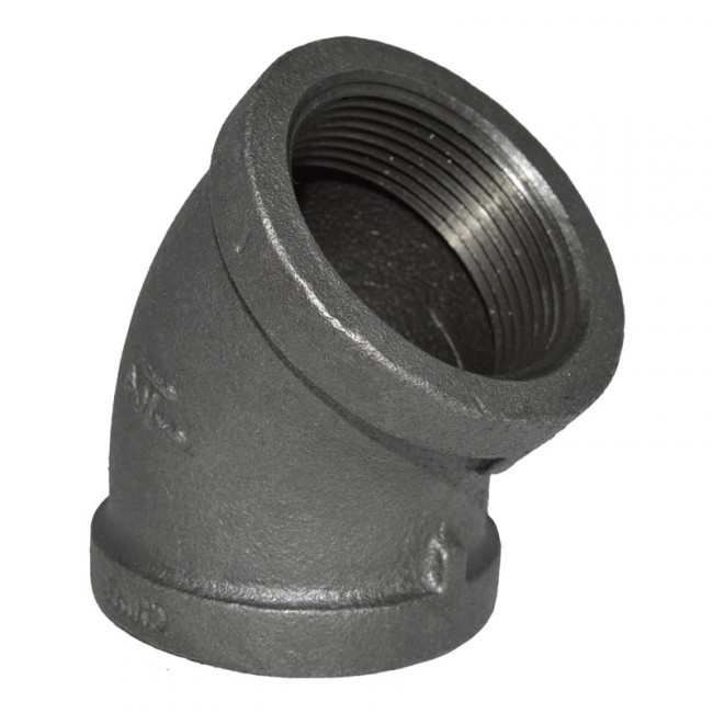 Buy a quot black malleable iron degree elbow fitting