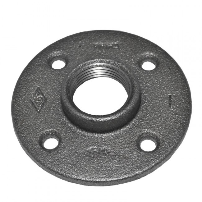 Purchase a 1 black malleable iron floor flange low prices for 1 black floor flange