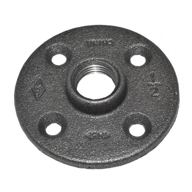 Purchase A 1 2 Quot Black Malleable Iron Floor Flange Today