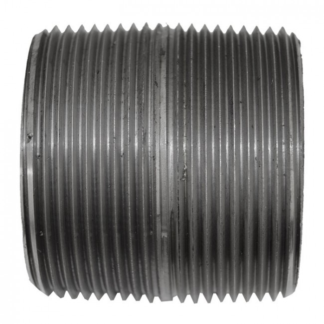 1-1//4 Black Steel Nipple 10 Length Threaded at Both Ends Welded Pack of 2 Schedule 80-1XLE3,