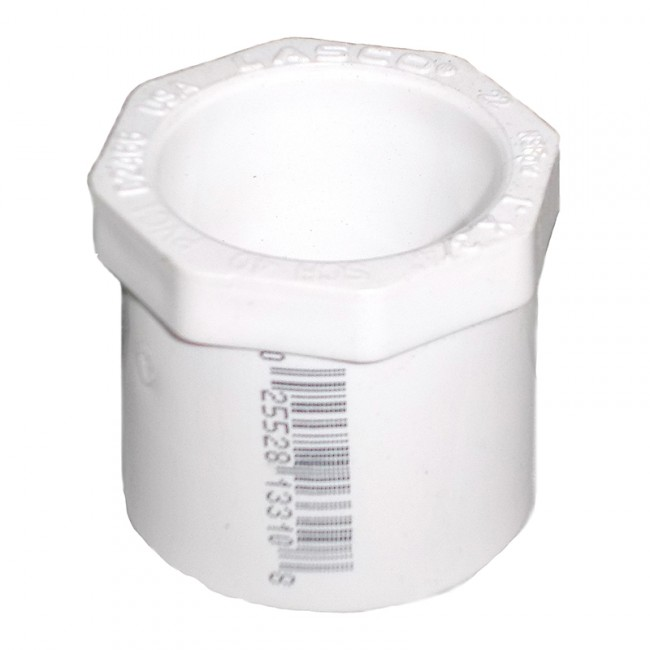 Quot sch pvc reducer bushing flush style spig
