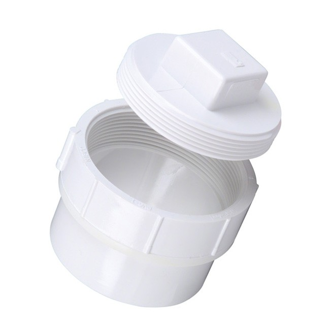 1 1 2 Quot Dwv Pvc Fitting Cleanout Adapter And Plug D112 015