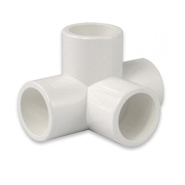1 2 4 way pvc furniture fitting side outlet tee for use for 2 furniture grade pvc
