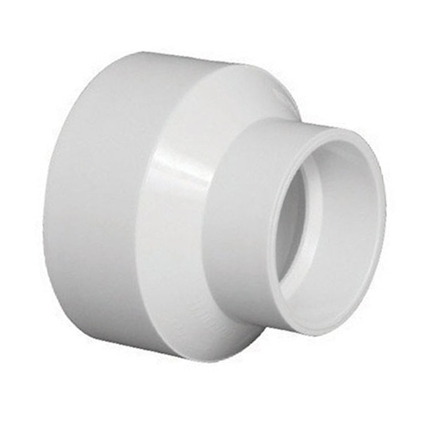Quot dwv pvc reducer fitting d