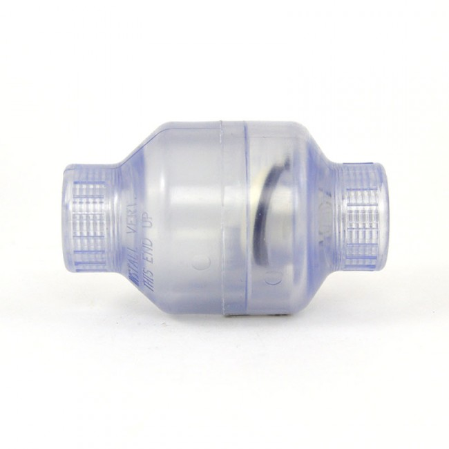 Quot clear pvc swing check valve threaded s c f