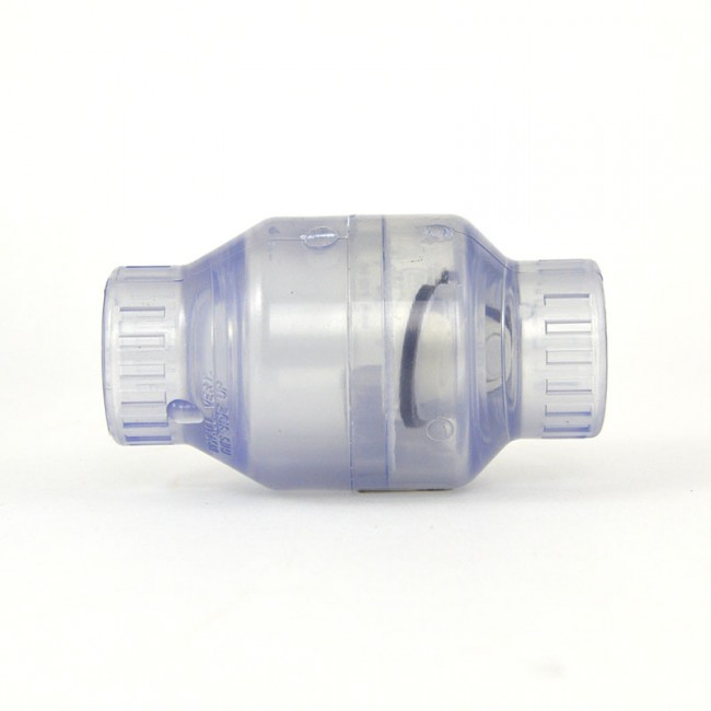 Quot clear pvc swing check valve socket s c