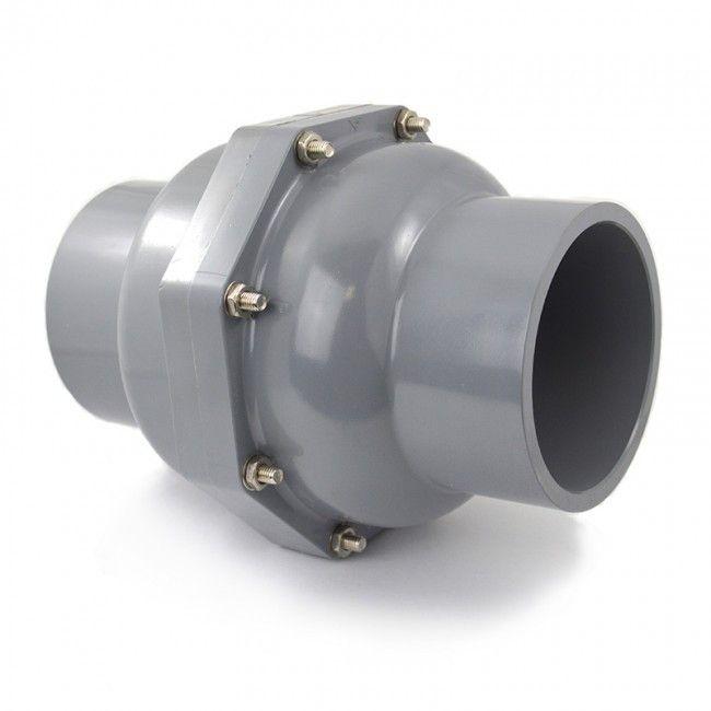 Quot industrial cpvc swing check valve viton sk csc v