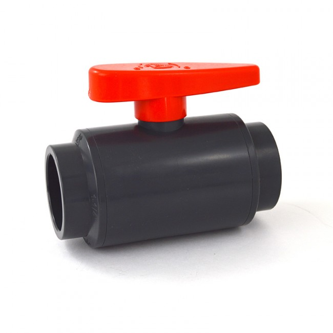 Buy quot deluxe pvc compact ball valve socket gray