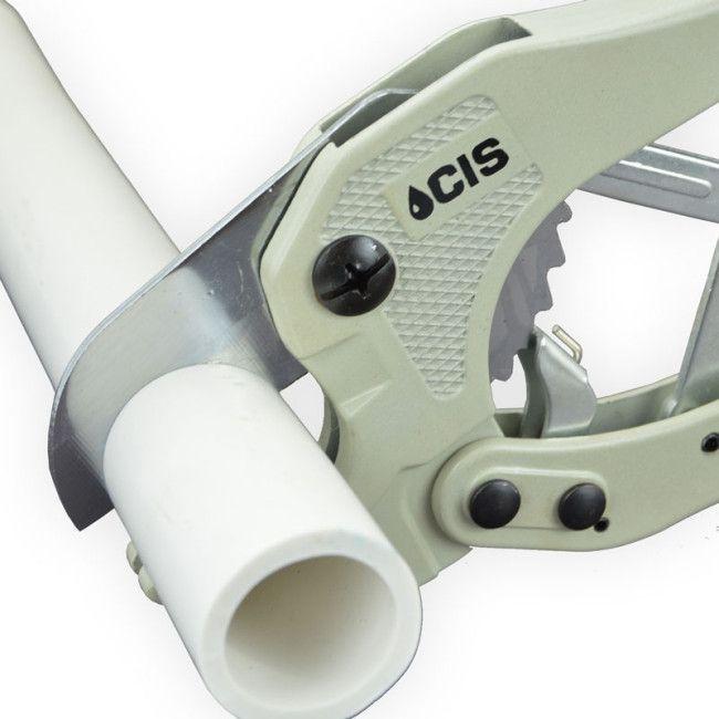 Pvc Pipe Cutting Tool In Use