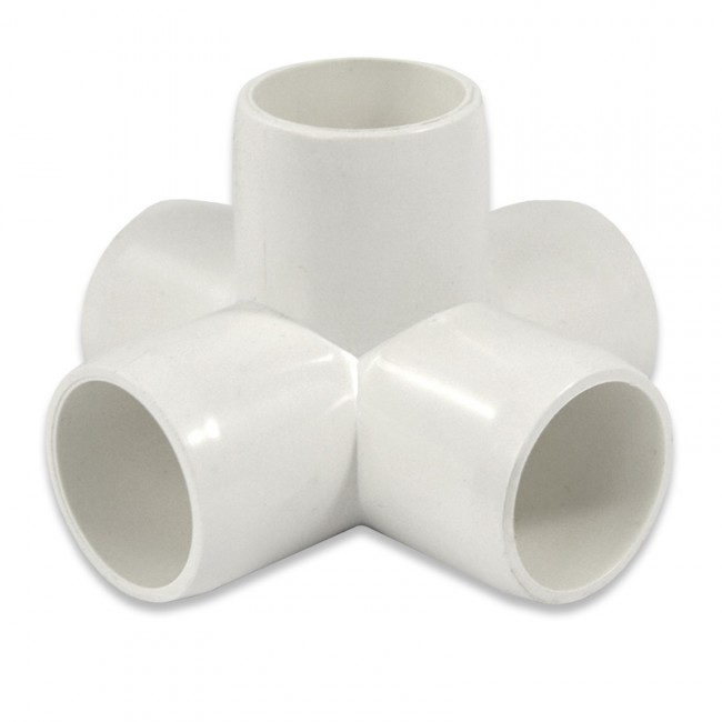 Quot way pvc furniture fitting side outlet cross