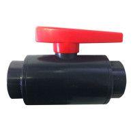 "2"" DELUXE Compact PVC Ball Valve - Gray/Threaded"