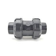 "3/4"" PVC True Union Ball Check Valve (SK-TUBC-S-007-V) - Viton"