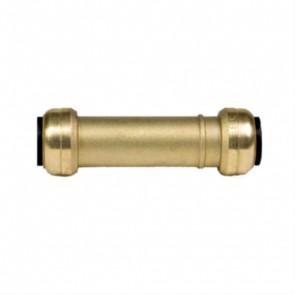 "1/2"" Brass Push Fit Slip Coupling 10155514"