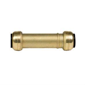 "10155516 3/4"" Brass Push Fit Slip Coupling"