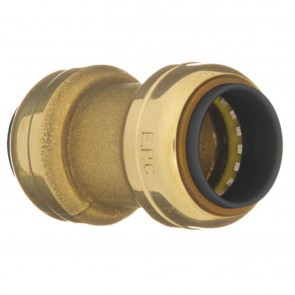 """10155527 3/8"""" Lead Free Coupling with Stop"""