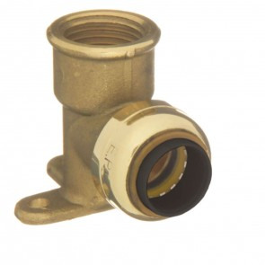 "10155541 3/8 x 1/2"" Brass Push Fit 90 Degree Street Elbow"
