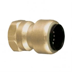"10177355 3/8 x 1/2"" Brass Push Fit Reducer Female Adapter"