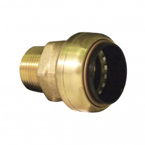 10177392 1/4 x 1/2 Brass Push Fit Reducing Male Adapter