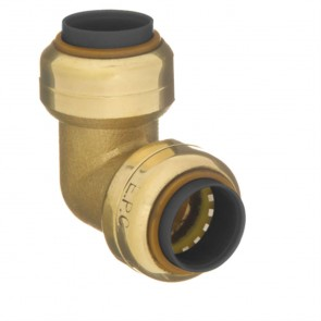 "10177401 1/4"" Brass Push Fit 90 Degree Elbow"