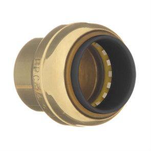 "1/4"" Brass Push Fit Tube Cap 10177440"