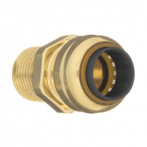 "10188066 1-1/4"" Brass push fit male adapter"