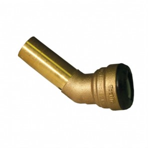 "10188112 1-1/4"" Brass Push Fit 45 Degree Street Elbow"
