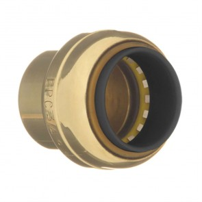 "1-1/4"" Brass Push Fit Tube Cap 10188130"