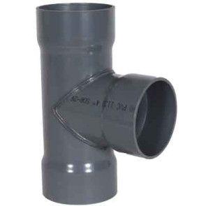 """6"""" x 6"""" x 4"""" PVC Duct Tee 1034-T-0604 / 4301-532"""
