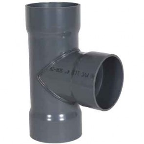 """8"""" x 8"""" x 8"""" PVC Duct Tee 1034-T-08 / 4301-080"""