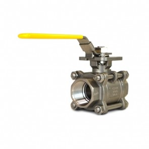 Flo-Tite 3-Piece Stainless Steel Ball Valve - Threaded