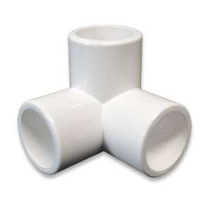 "1/2"" Size 3-Way PVC Furniture Grade Fitting"