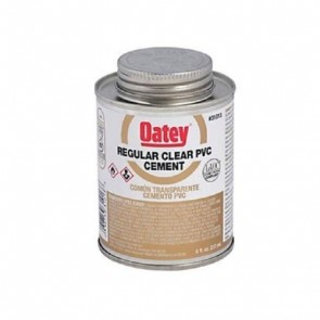 Oatey Regular Clear PVC Cement - 4 oz. (31012)